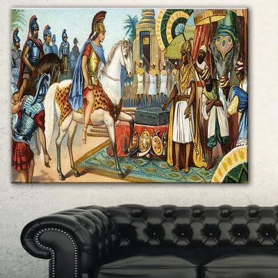Designart Ancient Historical Illustration PortraitCanvas Art Print - 3 Panels