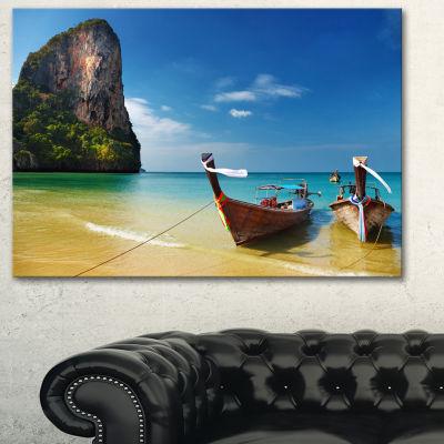 Designart Andaman Sea Tropical Beach PhotographyCanvas Art Print - 3 Panels