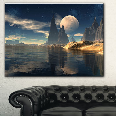 Designart Antara Alien Planet Photography CanvasArt Print