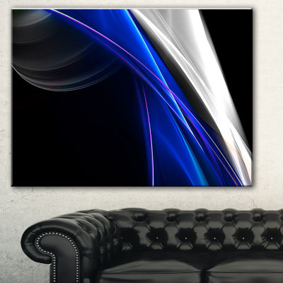 Designart Glittering Blue Pattern Abstract CanvasArt Print - 3 Panels