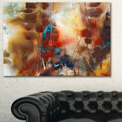 Designart Artistic Brown Abstract Canvas Artwork