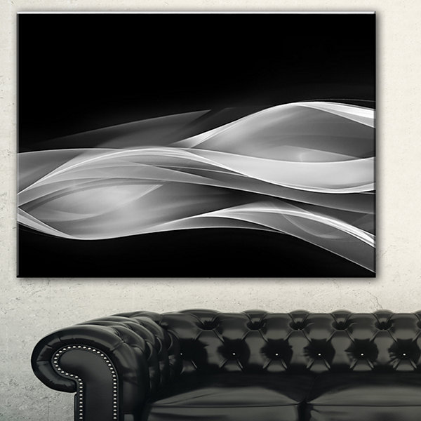 Designart Glittering Silver Pattern Abstract Canvas Art Print