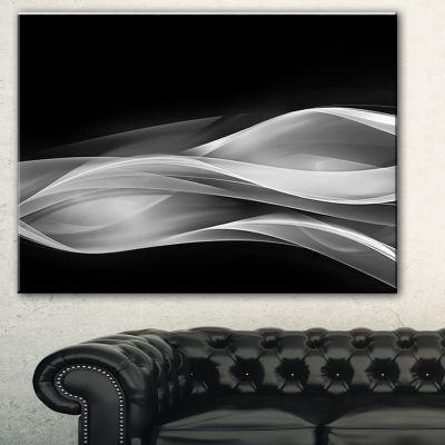 Designart Glittering Silver Pattern Abstract Canvas Art Print - 3 Panels