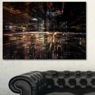 Designart Glow Of Technology Contemporary Canvas Art Print