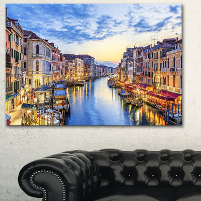 Designart Grand Canal Panorama Landscape Photography Canvas Print