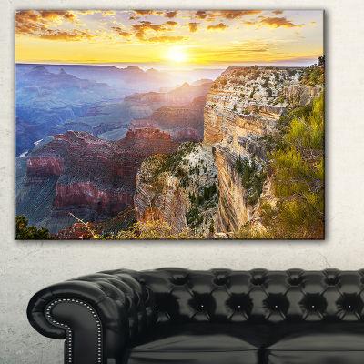 Designart Grand Canyon Landscape Photography Canvas Art Print - 3 Panels