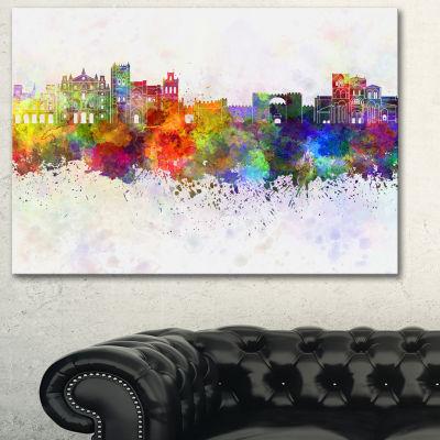 Designart Avila Skyline Cityscape Canvas ArtworkPrint