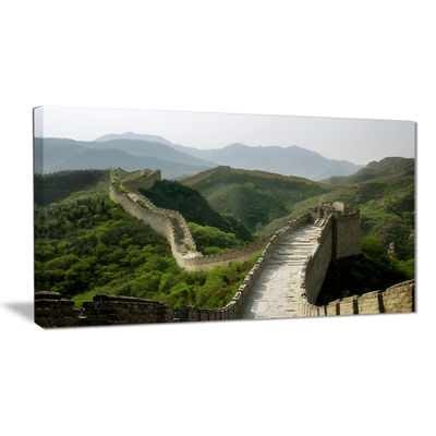 Designart Great Wall Of China Photography Canvas Art Print