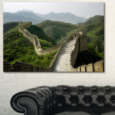 Designart Great Wall Of China Photography CanvasArt Print - 3 Panels