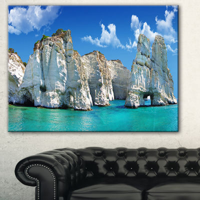 Designart Greek Holidays Cityscape Photo Canvas Art Print