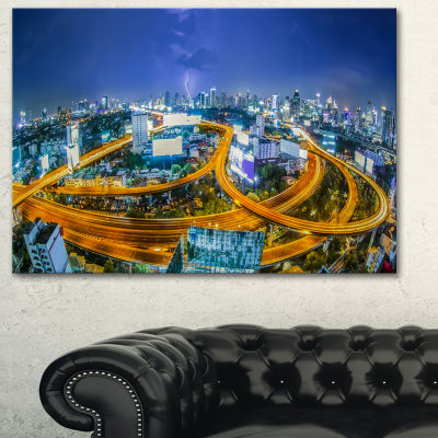 Designart Bangkok City Cityscape Photography Canvas Art Print - 3 Panels