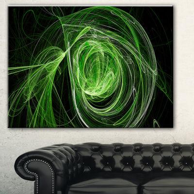 Designart Green Ball Of Yarn Abstract Canvas Art Print
