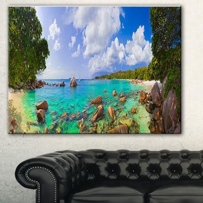 Designart Beach Anse Lazio At Seychelles LandscapePhotography Canvas Print