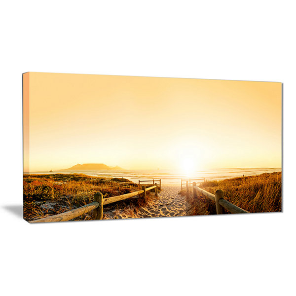 Designart Beach Near Cape Town Panorama Photography Canvas Art Print