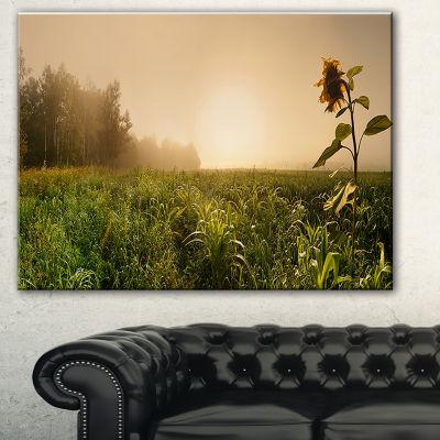 Designart Green Panoramic Landscape Photography Canvas Art Print - 3 Panels