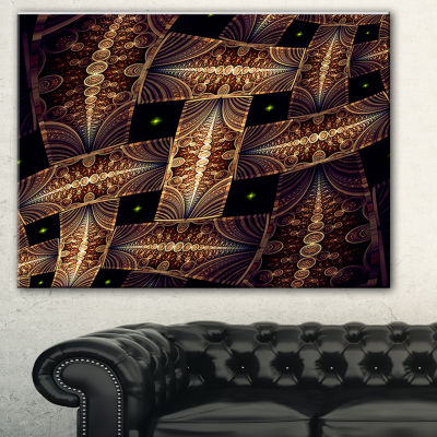 Designart Beautiful Metallic Braiding Pattern Abstract Print On Canvas - 3 Panels