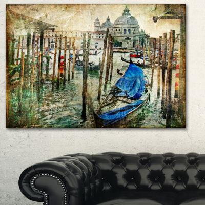 Designart Beautiful Venice Landscape Art Print Canvas