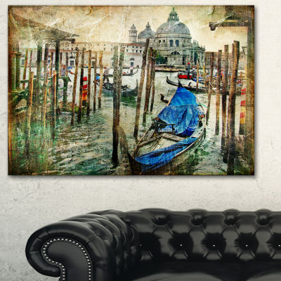 Designart Beautiful Venice Landscape Art Print Canvas - 3 Panels