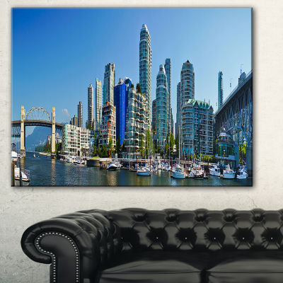 Designart Beautiful View Of Vancouver Cityscape Photo Canvas Print