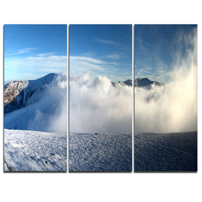Designart Beautiful Winter Landscape PhotographyCanvas Art Print - 3 Panels