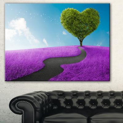 Designart Heart Tree Abstract Abstract Print On Canvas