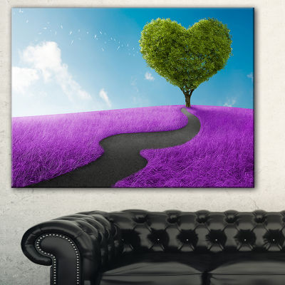 Designart Heart Tree Abstract Abstract Print On Canvas - 3 Panels