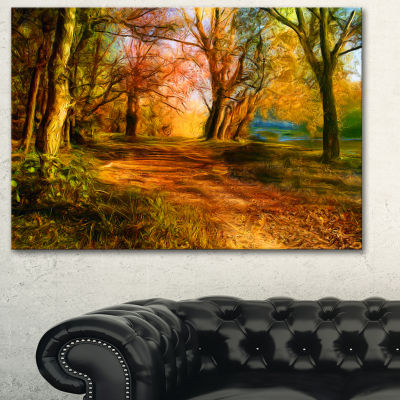 Designart Beauty Of Nature Landscape Art Print Canvas - 3 Panels