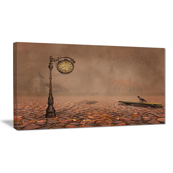 Designart Behind Old Time Landscape Photography Canvas Art Print