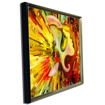 Designart Beyond Inner Paint Abstract Canvas Artwork