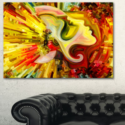 Designart Beyond Inner Paint Abstract Canvas Artwork - 3 Panels