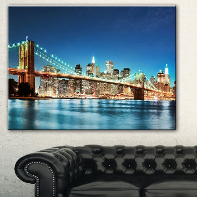 Designart Big Apple New York Cityscape Photo Canvas Print