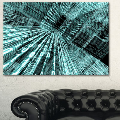 Designart Binary Code Contemporary Art Canvas Print