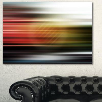 Designart Horizontal Lights Contemporary Art Canvas Print - 3 Panels
