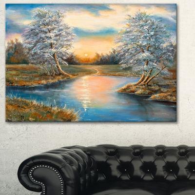 Designart Birches In Autumn Wood Landscape Art Print Canvas