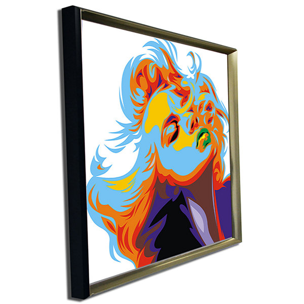 Designart Blonde Girl Art Vector Art Canvas Print