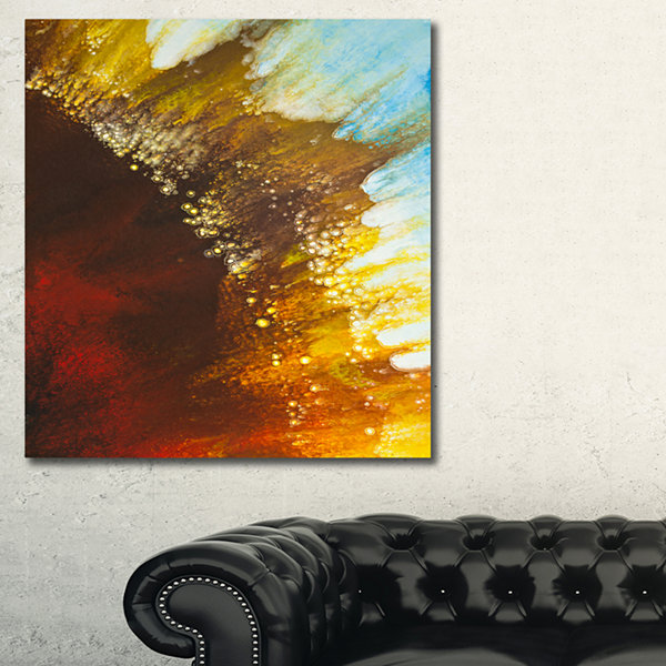 Designart Blow Of Brown Abstract Canvas Art Print