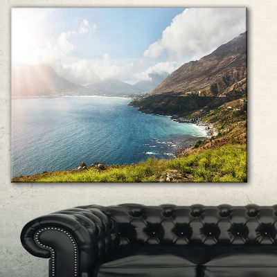 Designart Hout Bay View From Chapman S Peak Abstract Canvas Artwork - 3 Panels
