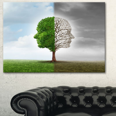 Designart Human Emotion Contemporary Canvas Art Print