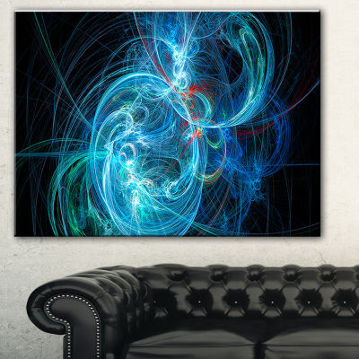 Designart Blue Ball Of Yarn Abstract Canvas Art Print