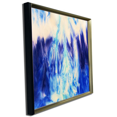 Designart Blue Life Abstract Canvas Art Print