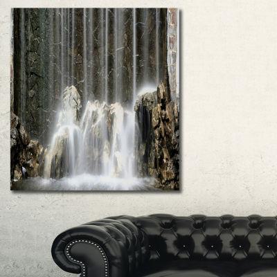 Designart Blue Mountain River Photography CanvasArt Print