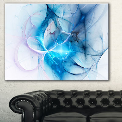 Designart Blue Nebula Star Abstract Canvas Art Print - 3 Panels