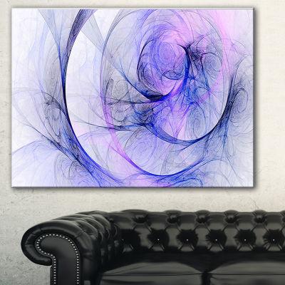 Designart Blue Storm Sky Abstract Canvas Art Print- 3 Panels