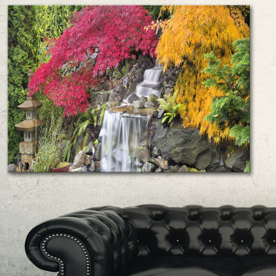 Designart Japanese Maple Trees Floral PhotographyArt - 3 Panels