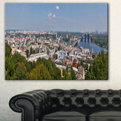 Designart Kiev Cityscape Panorama Photography Canvas Art Print