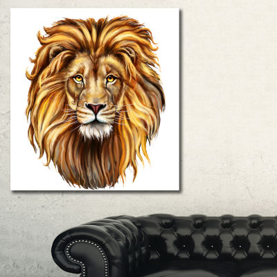 Designart King Lion Aslan Animal Art On Canvas -3Panels