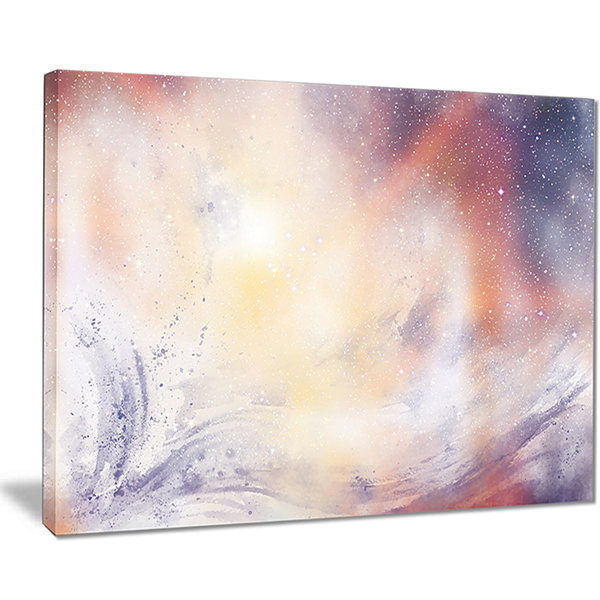 Designart Blurry Watercolor With Star Abstract Canvas Painting