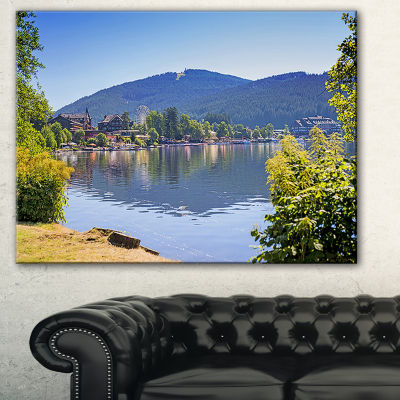 Designart Lake Titisee Black Forest Germany Photography Canvas Art Print