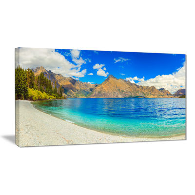 Designart Lake Wakatipu Landscape Photography Canvas Art Print