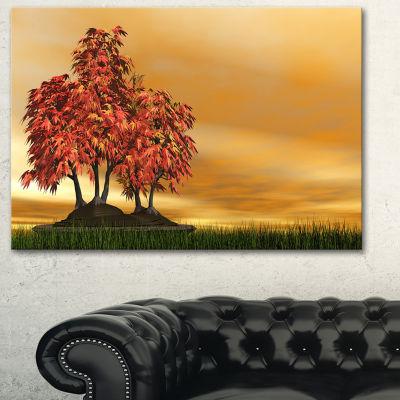 Designart Bonsai Landscape Photography Canvas ArtPrint